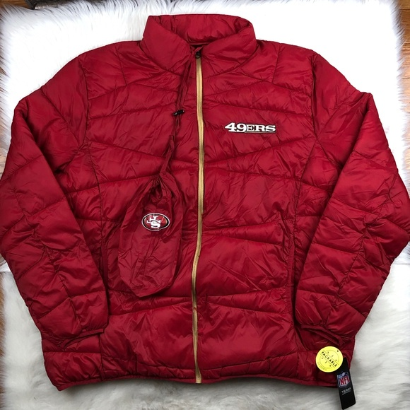 finest selection 901f8 a7269 San Francisco 49ers Packable Puffer Jacket 4XL NFL Boutique